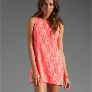 Naven Twoggy dress in neon salmon small